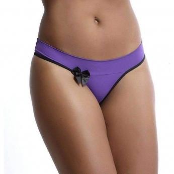 Tanga Cos fornecedor de calcinha - G - Violeta escuro