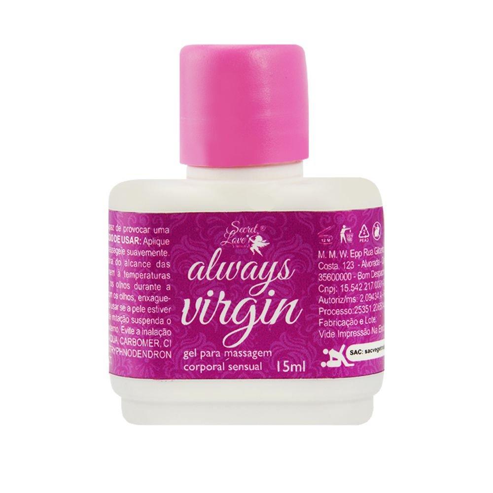 Always Virgin Gel Adstrigente 15Ml Segred Love produtos de sexshop atacado  - Fribasex - Fabricasex.com