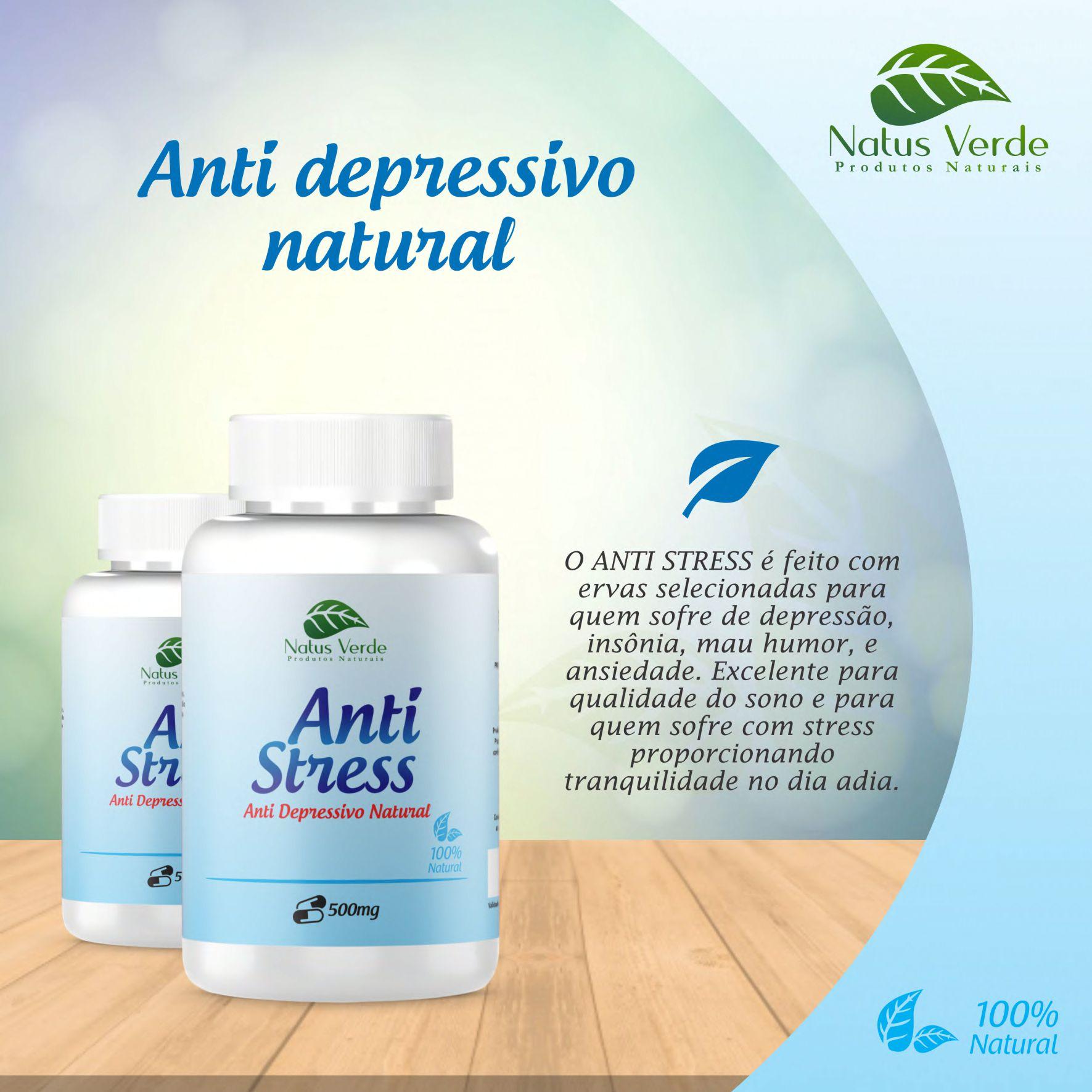 Anti Depressivo Natural Natus Verde 60 caps  - Fribasex - Fabricasex.com