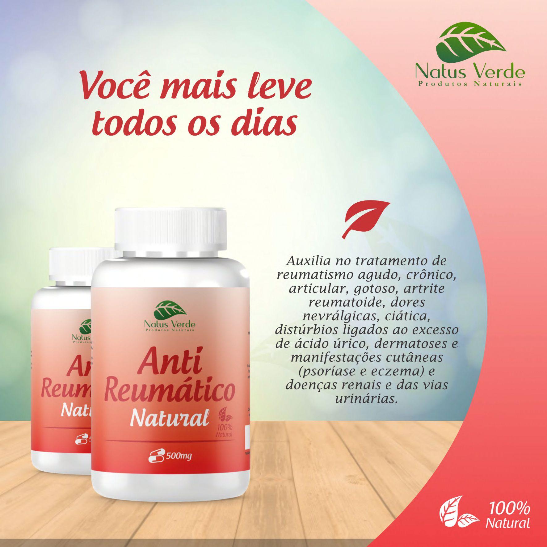 Anti Reumatico 60 Caps Natus Verde  - Fribasex - Fabricasex.com