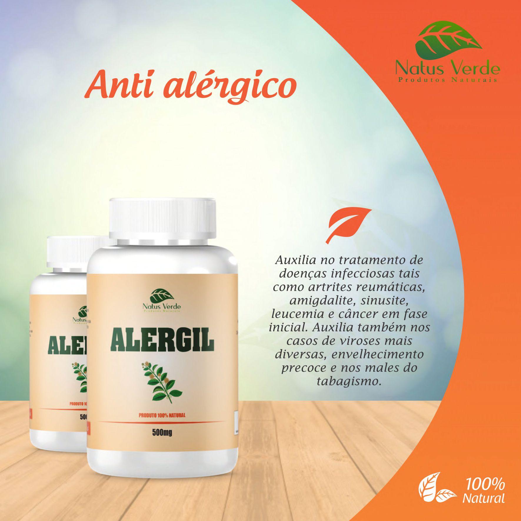 Antialérgico Natural Alergil 60 Caps. Natus Verde  - Fribasex - Fabricasex.com