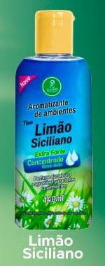 Aromatizantes de ambientes Tipo Limão Siciliano Extra Forte Concentrado Rende Muito 140ML  - Fribasex - Fabricasex.com