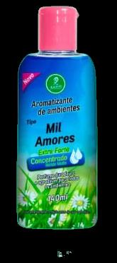 Aromatizantes de ambientes Tipo Mil Amores Siciliano Extra Forte Concentrado Rende Muito 140ML  - Fribasex - Fabricasex.com