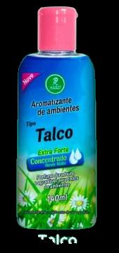 Aromatizantes de ambientes Tipo Talco Extra Forte Concentrado Rende Muito 140ML  - Fribasex - Fabricasex.com