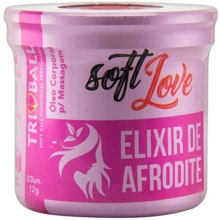 Atacado Sex Shop  Soft Ball Triball Elixir De Afrodite 12g 03 Unidades Soft Love  - Fribasex - Fabricasex.com