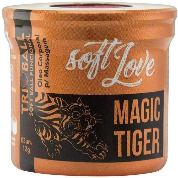 Atacado Sex Shop  Soft Ball Triball Magic Tiger 12g 03 Unidades Soft Love  - Fribasex - Fabricasex.com