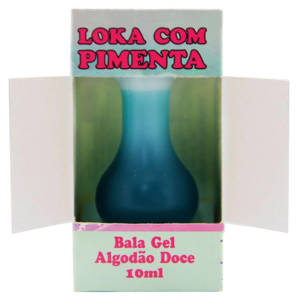 Bala em Gel Loka Com Pimenta 10ml  Algodão Doce  - Fribasex - Fabricasex.com