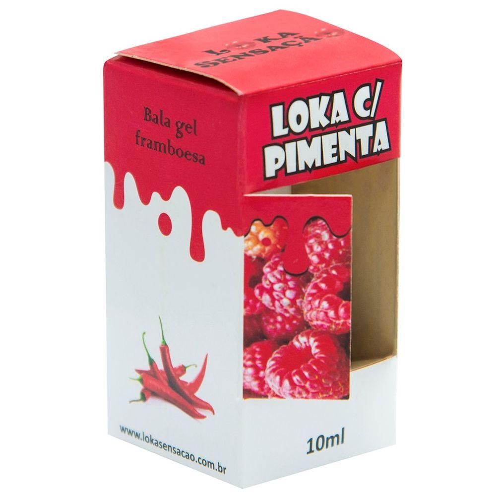 Bala em Gel Loka Com Pimenta 10ml  Framboesa  - Fribasex - Fabricasex.com