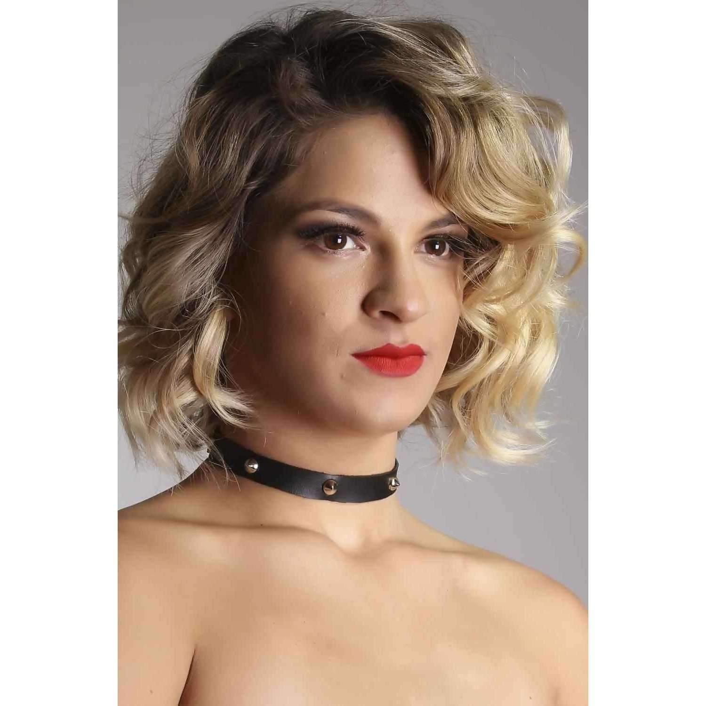 BDSM Produtos Eroticos Sexshop Sexshop Produtos Eroticos   Gargantilha com Espies  - Fribasex - Fabricasex.com