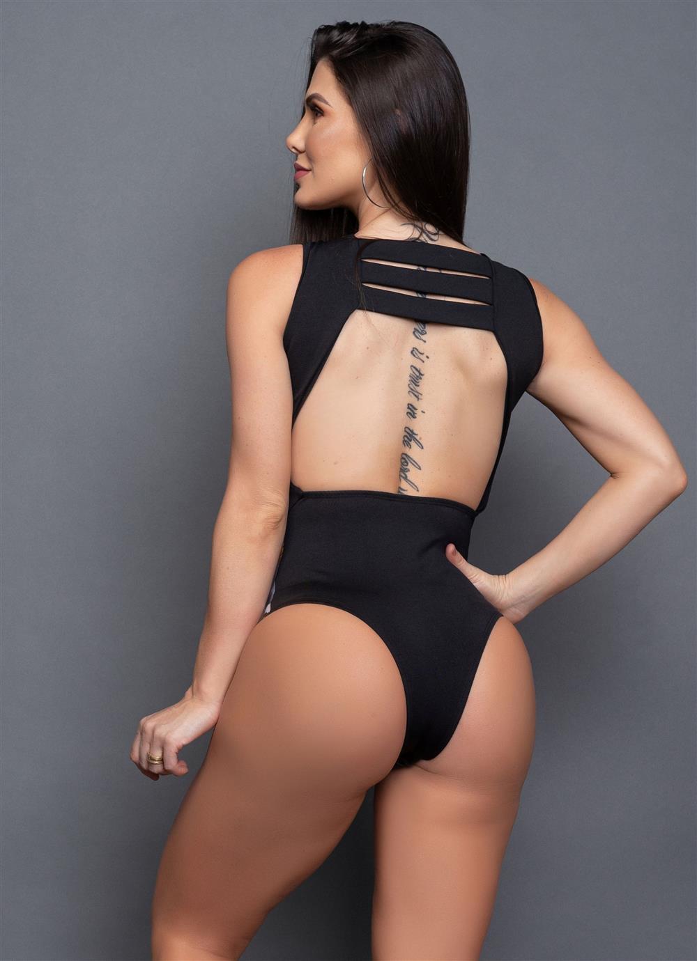 Body Eva Eris Preto  - Fribasex - Fabricasex.com