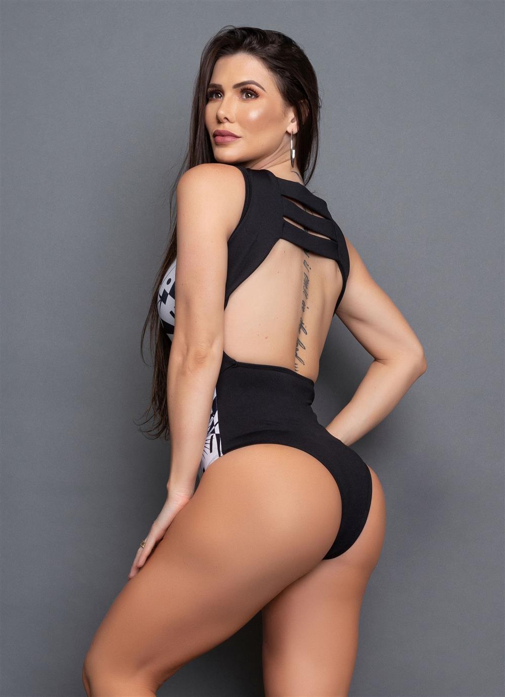 Body Eva Preto/Branco  - Fribasex - Fabricasex.com