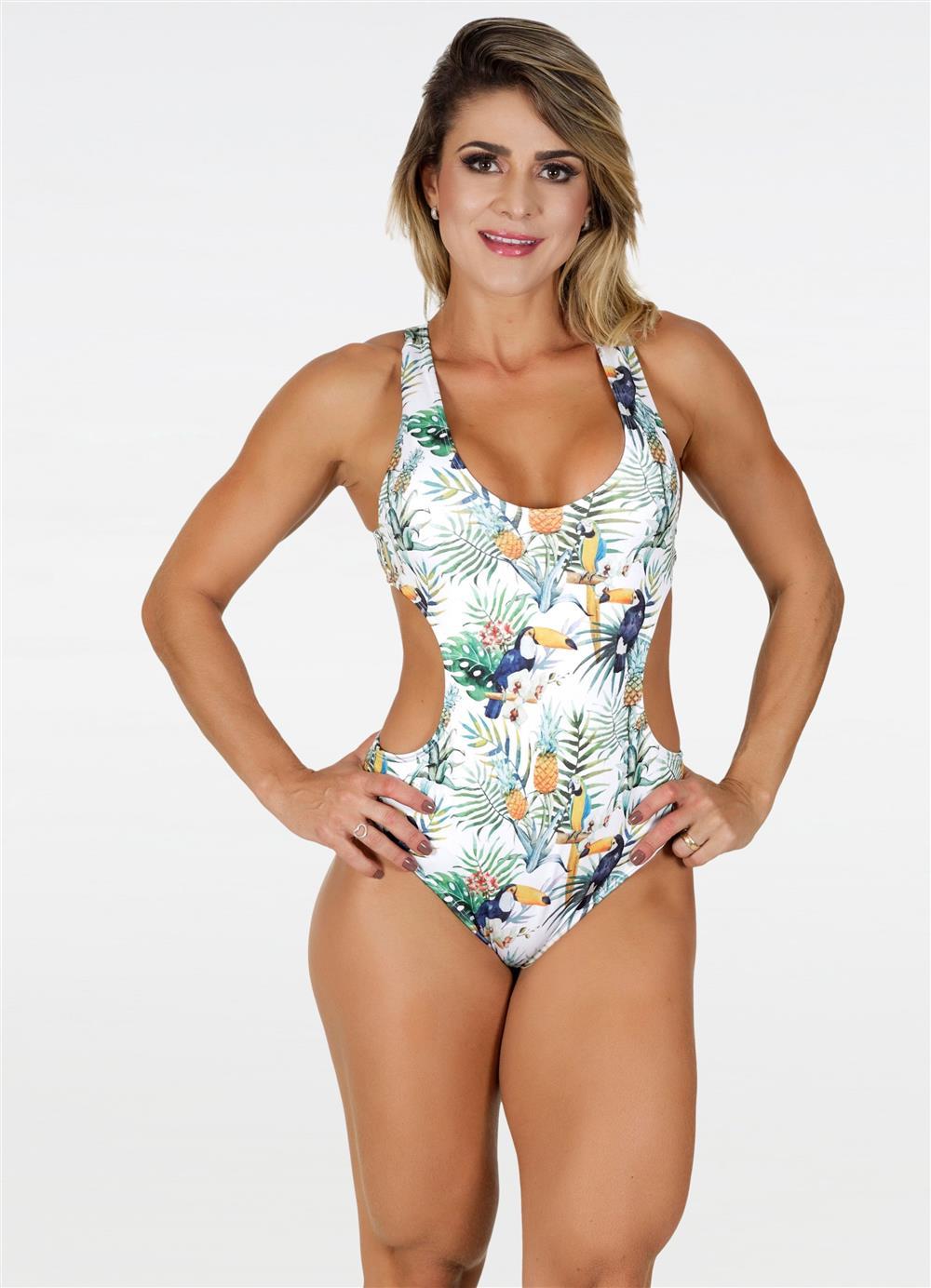 Body Jenifer Abacaxi Branco  - Fribasex - Fabricasex.com