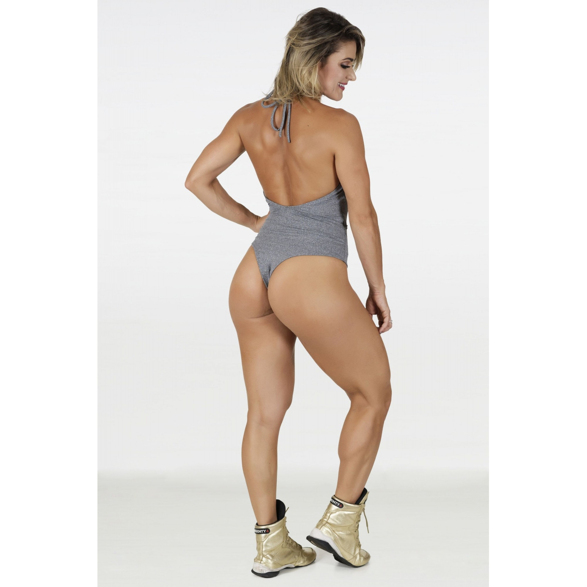 Body Maiô May Cinza Mescla  - Fribasex - Fabricasex.com