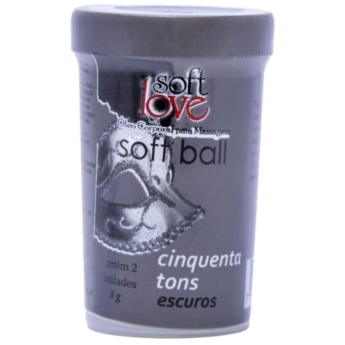 BOLINHA FUNCIONAL 50 TONS MAIS ESCUROS 2 UNIDADES SOFT LOVE  - Fribasex - Fabricasex.com