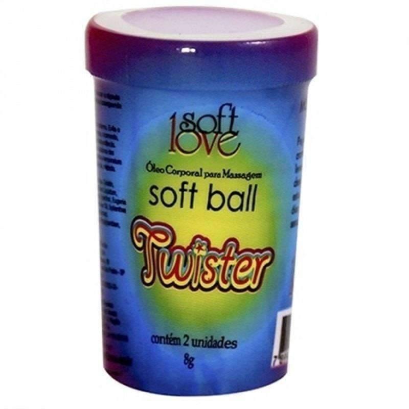 Bolinha Lubrificante Bolinha Funcional Twister Soft Love  - Fribasex - Fabricasex.com