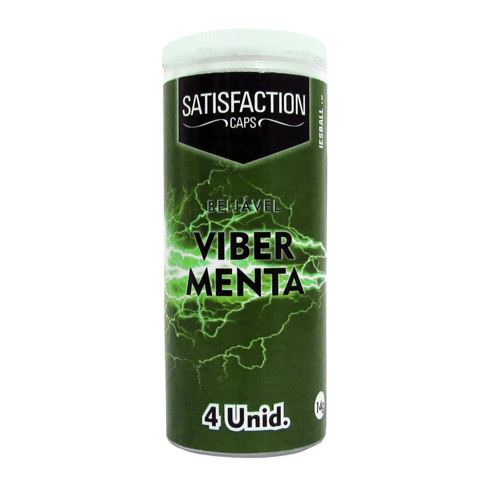 Bolinha Vibrante Quadriball Viber Menta 04 Unidades Satisfection  - Fribasex - Fabricasex.com