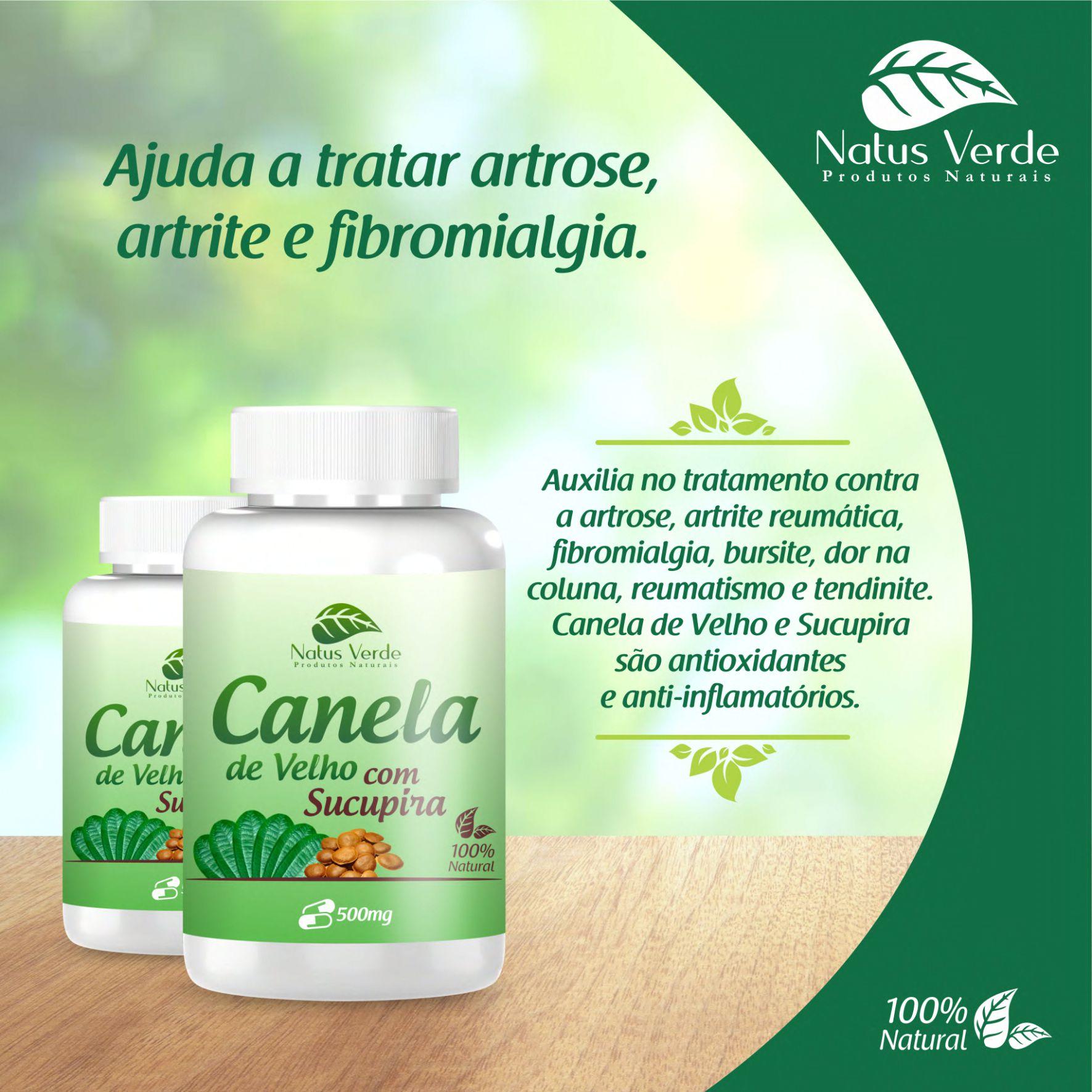 Complemento alimentar Canela de Velho com Sucupira Natus Verdes 60 caps  - Fribasex - Fabricasex.com