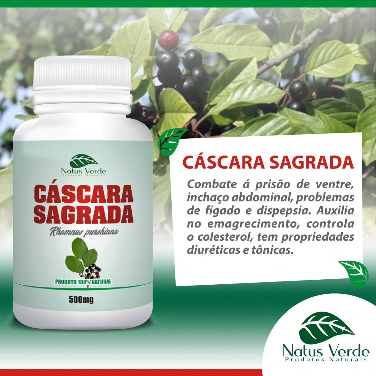 Complemento alimentício Cáscara Sagrada Natus Verde 60 caps  - Fribasex - Fabricasex.com