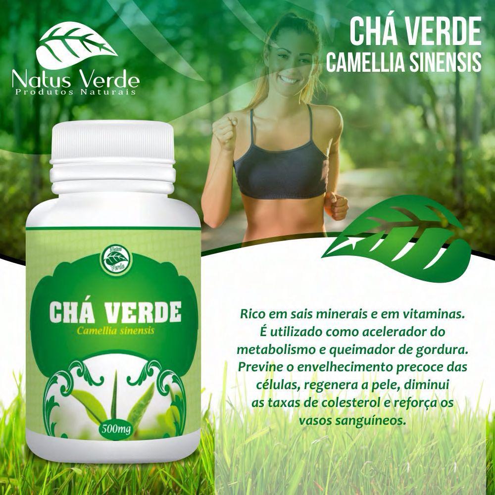 Complemento alimentício Chá Verde 60 Caps Natus Verde  - Fribasex - Fabricasex.com