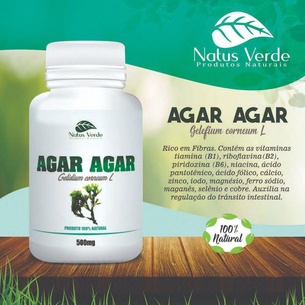 Composto Alimentício Agar Agar 60 Caps Natus Verde 60 caps  - Fribasex - Fabricasex.com