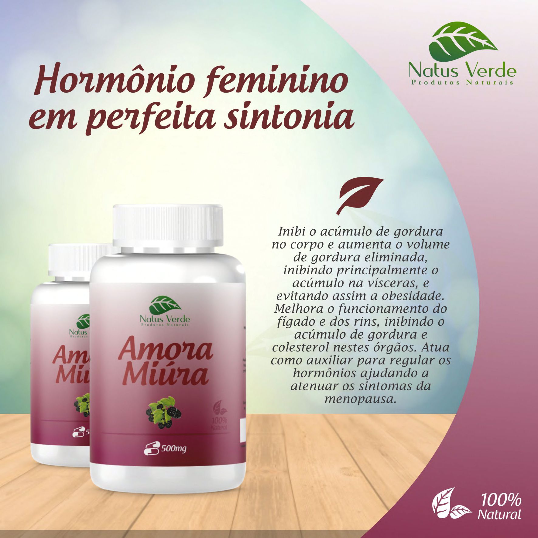 Composto Amora Miura 60 Caps Natus Verde  - Fribasex - Fabricasex.com