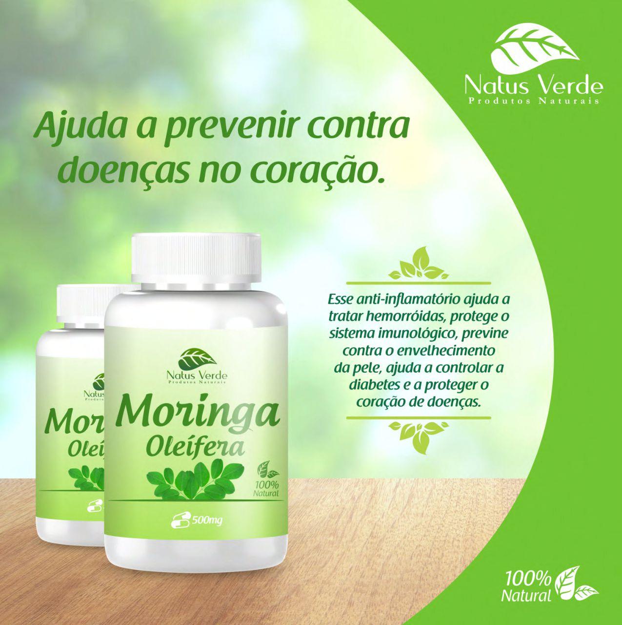 Composto Moringa Oleifera 60 Caps Natus Verde  - Fribasex - Fabricasex.com