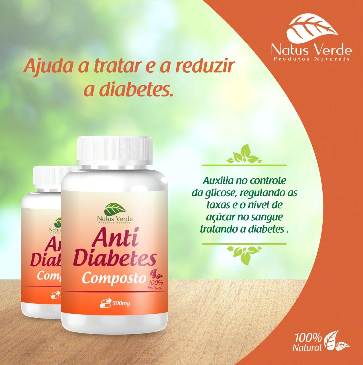 Composto Natural Anti Diabetes Natus Verde 60 caps  - Fribasex - Fabricasex.com