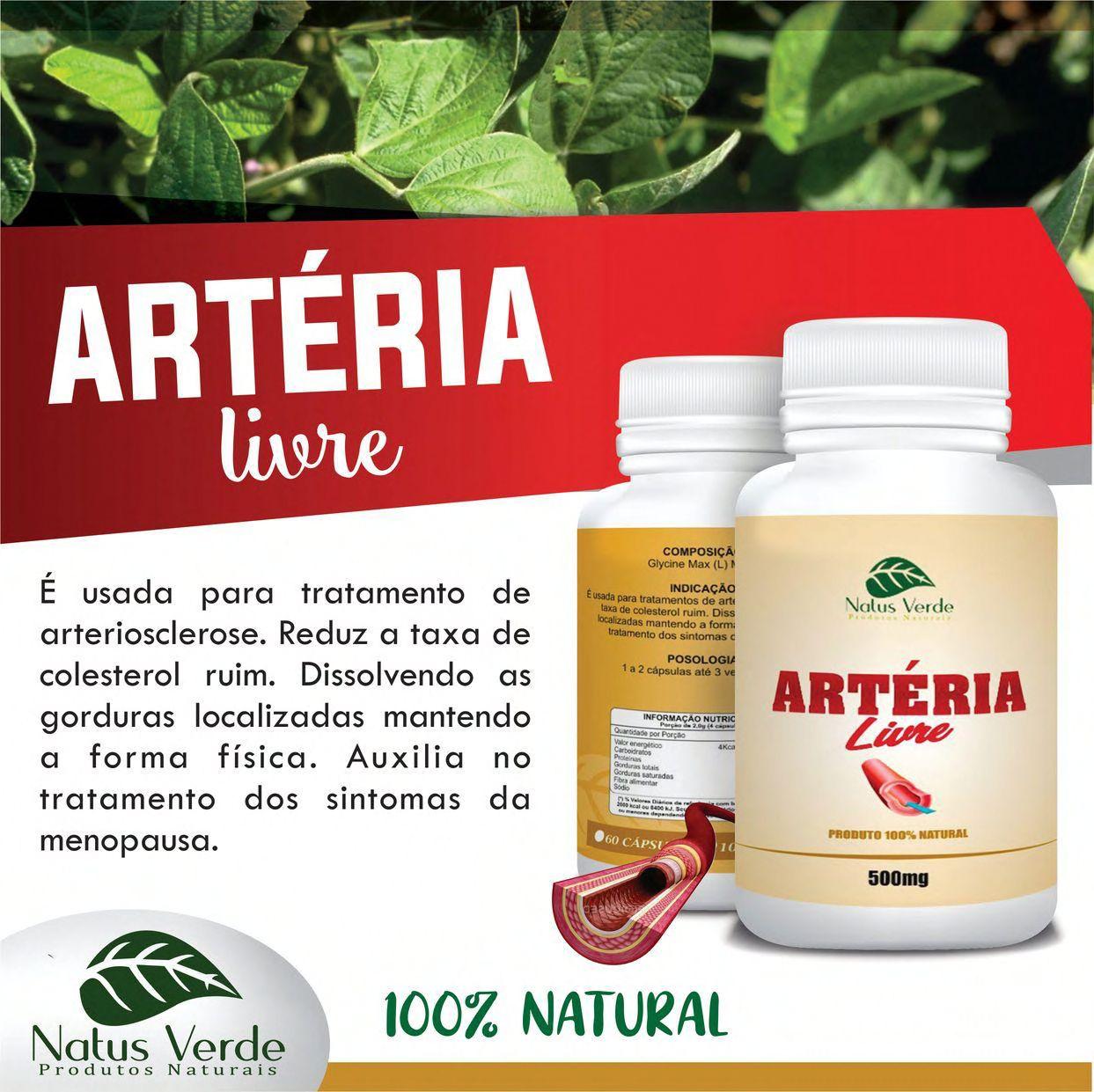 Composto Natural Artéria Livre Natus Verde 60 caps  - Fribasex - Fabricasex.com
