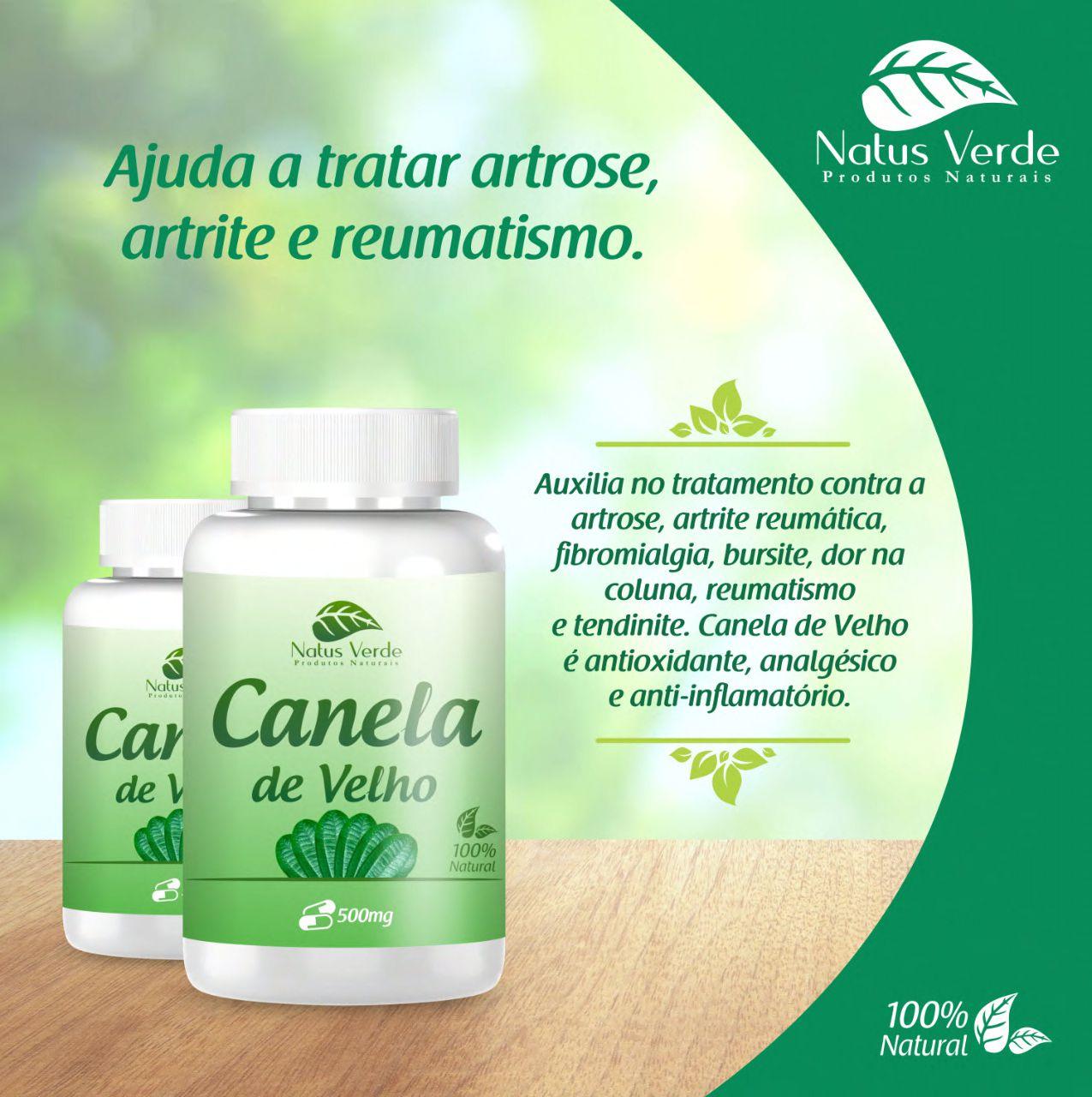 Composto natural canela de Velho Natus Verde 60 caps  - Fribasex - Fabricasex.com