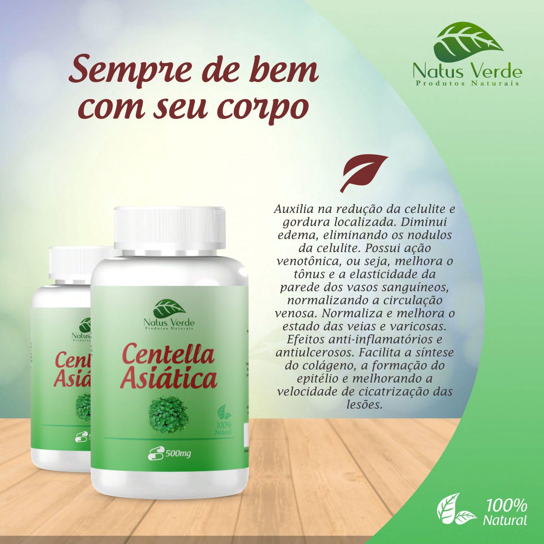 Composto natural Centella Asiática Produto Natural Natus Verde  - Fribasex - Fabricasex.com