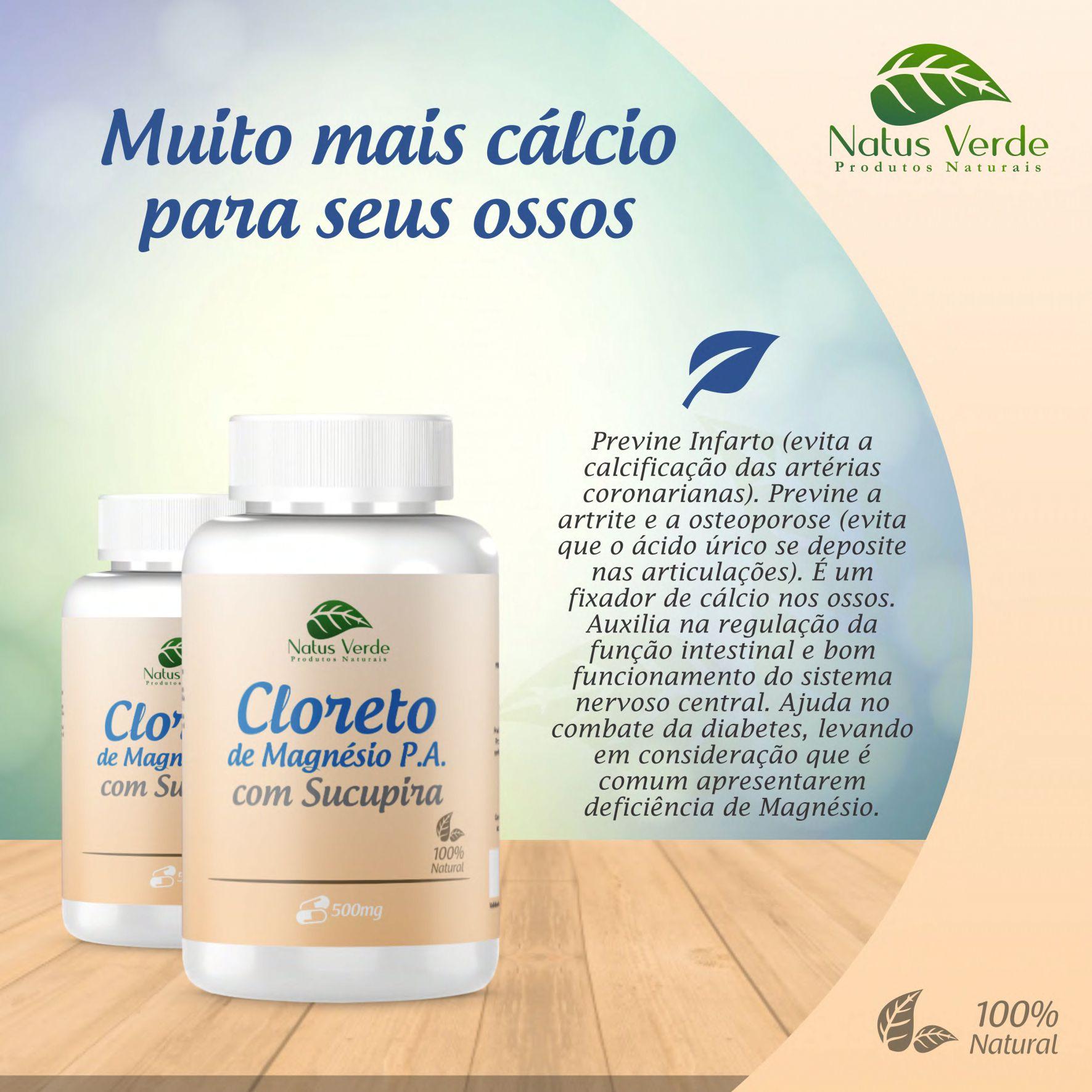 Composto natural Cloreto De Magnesio C/Sucupira 60 Caps Natus Verde  - Fribasex - Fabricasex.com