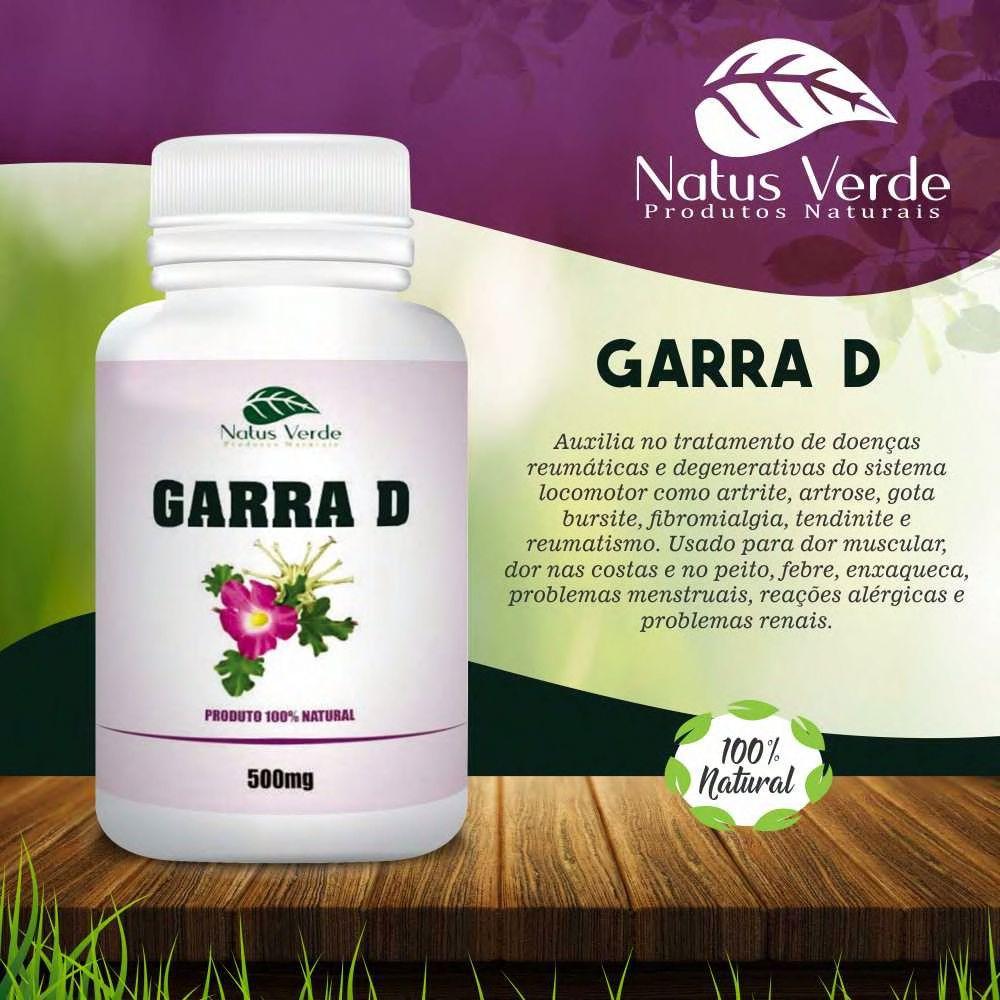Composto natural Garra D 60 Caps Natus Verde  - Fribasex - Fabricasex.com