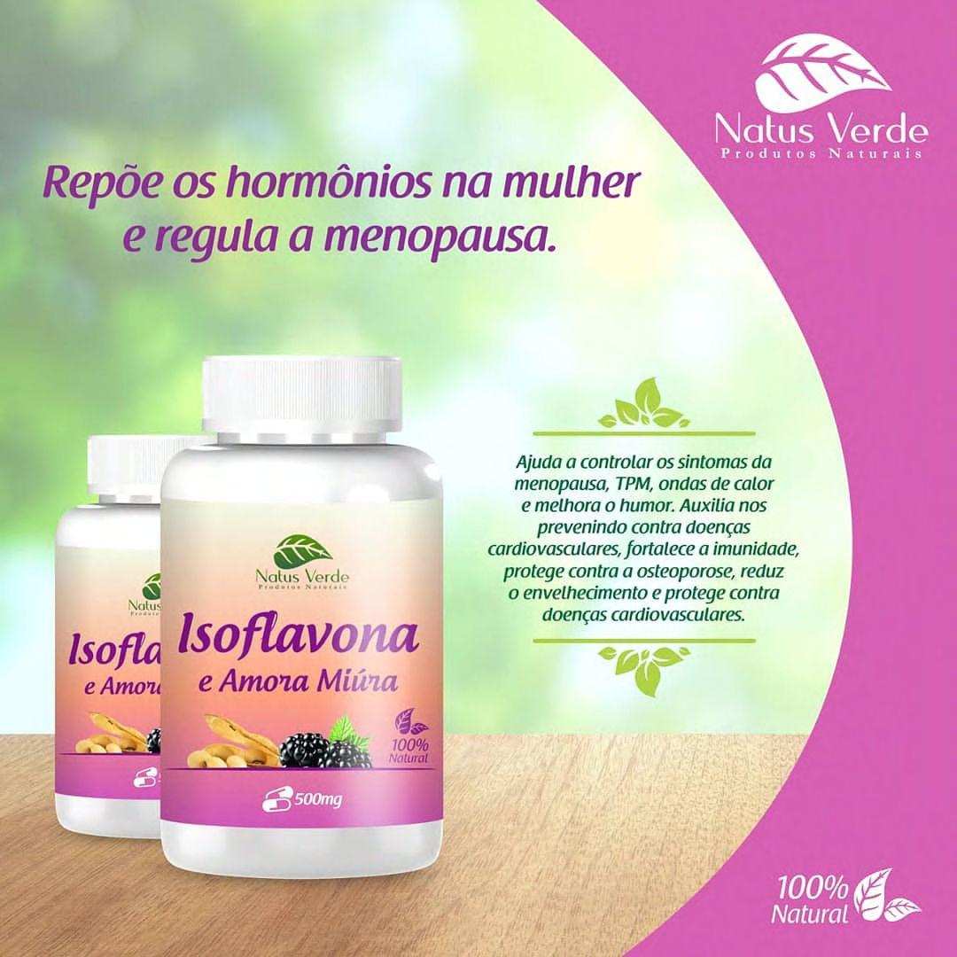 Composto Natural Isoflavona + Amora 60 Caps Natus Verde  - Fribasex - Fabricasex.com