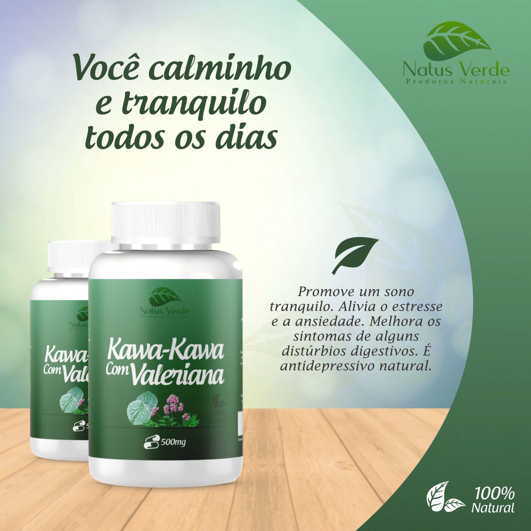 Composto natural Kawa-Kawa com Valeriana Natus Verdes  - Fribasex - Fabricasex.com