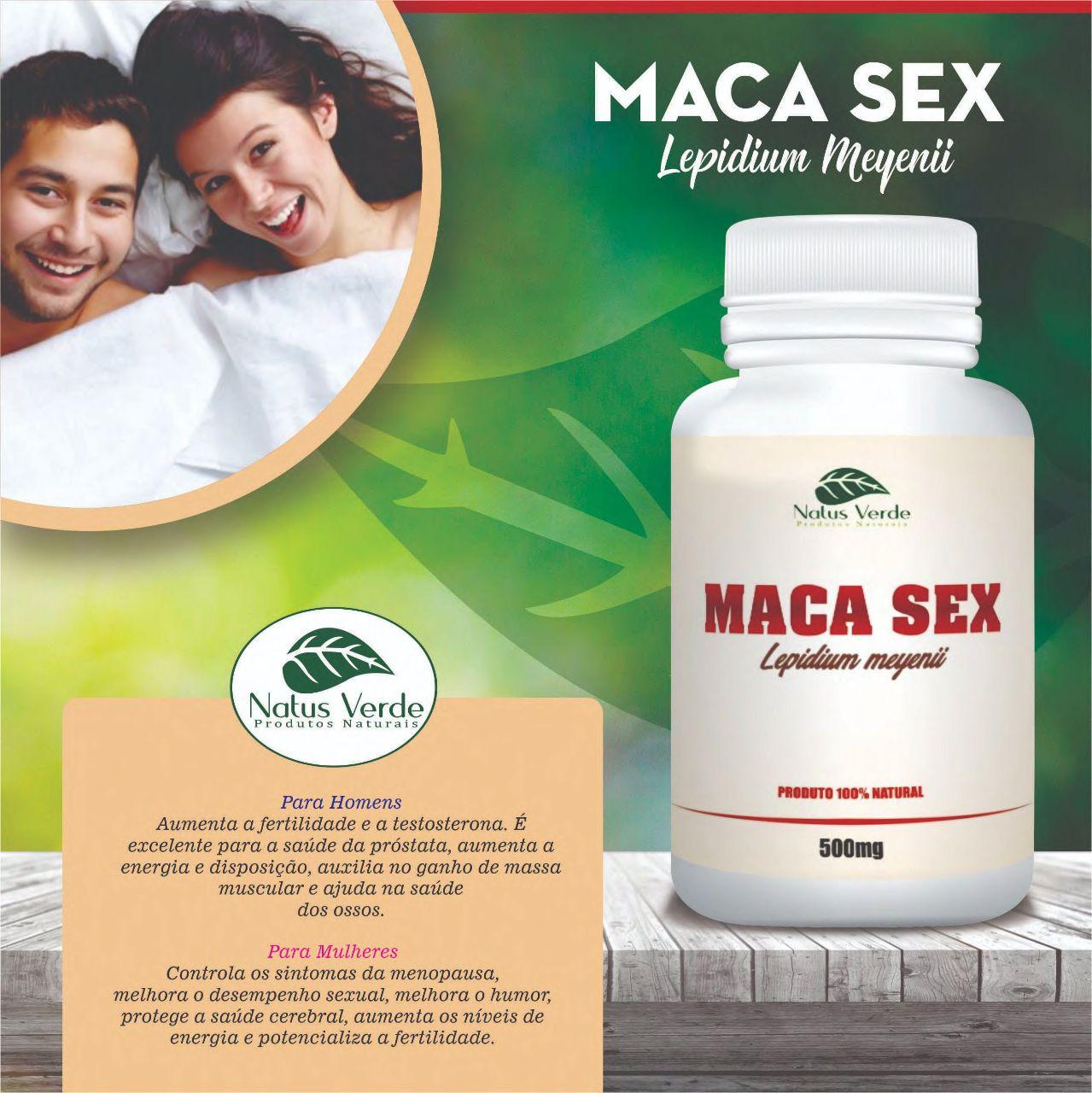 Composto Natural Macasex 60 Caps Natus Verdes  - Fribasex - Fabricasex.com