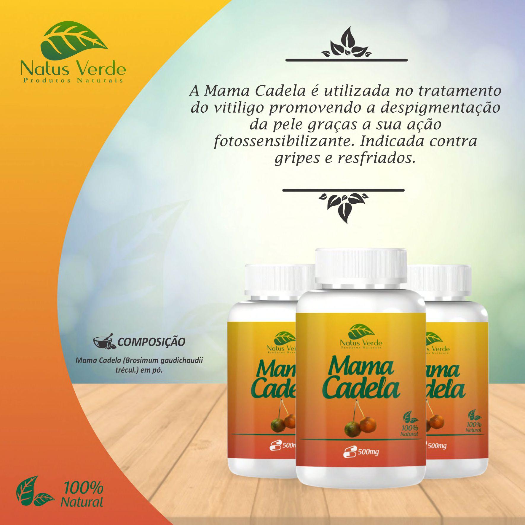 Composto Natural Mama Cadela 60 Caps Natus Verde  - Fribasex - Fabricasex.com