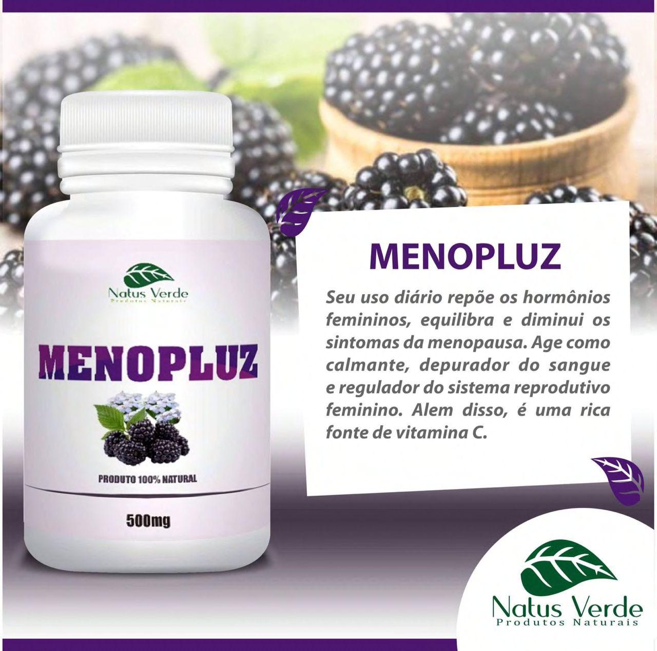 Composto Natural Menopluz 60 Caps Natus Verde  - Fribasex - Fabricasex.com