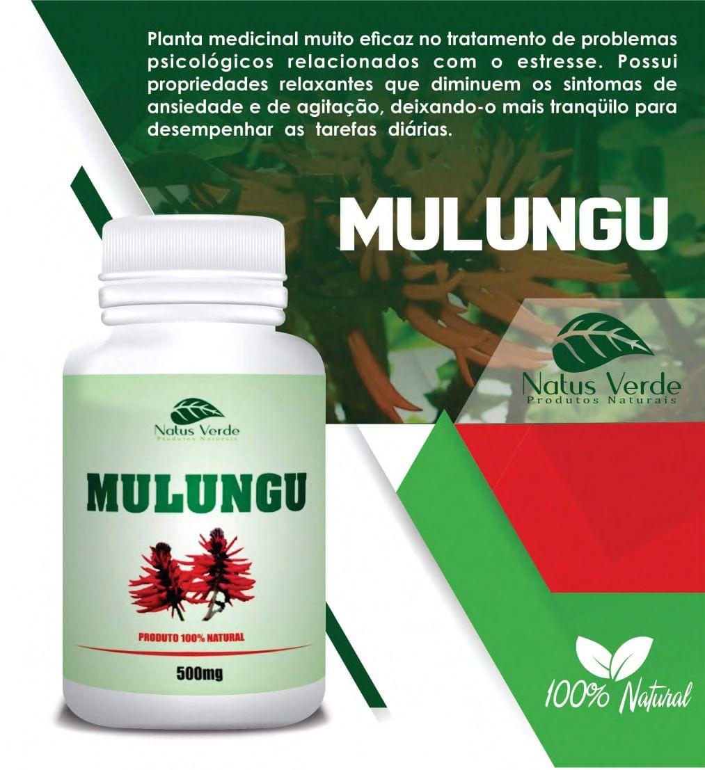 Composto Natural  Mulungu 60 Caps Natus Verde  - Fribasex - Fabricasex.com