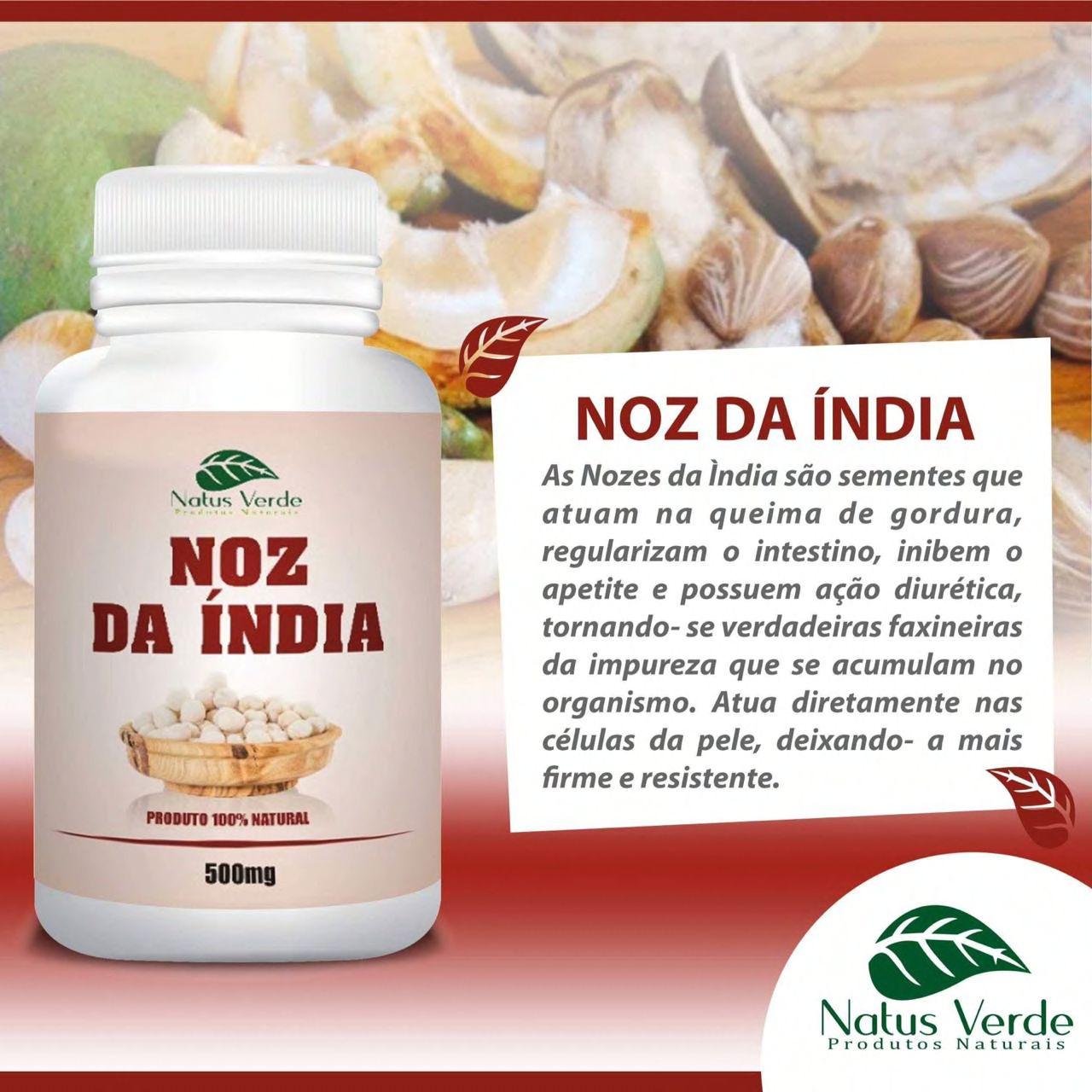 Composto Natural Noz da Índia 60 Caps Natus Verde  - Fribasex - Fabricasex.com