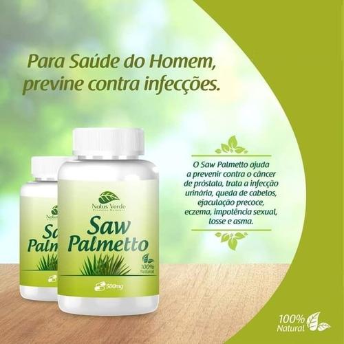 Composto Natural Saw Palmetto 60 caps Natus Verde  - Fribasex - Fabricasex.com