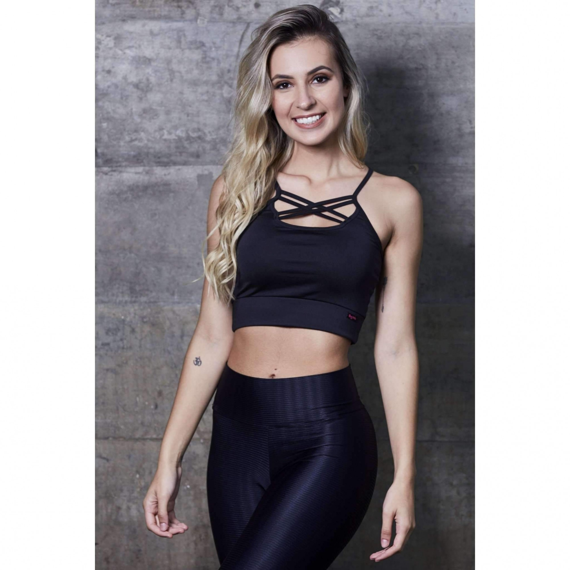 Cropped Strappy Liso  - Fribasex - Fabricasex.com