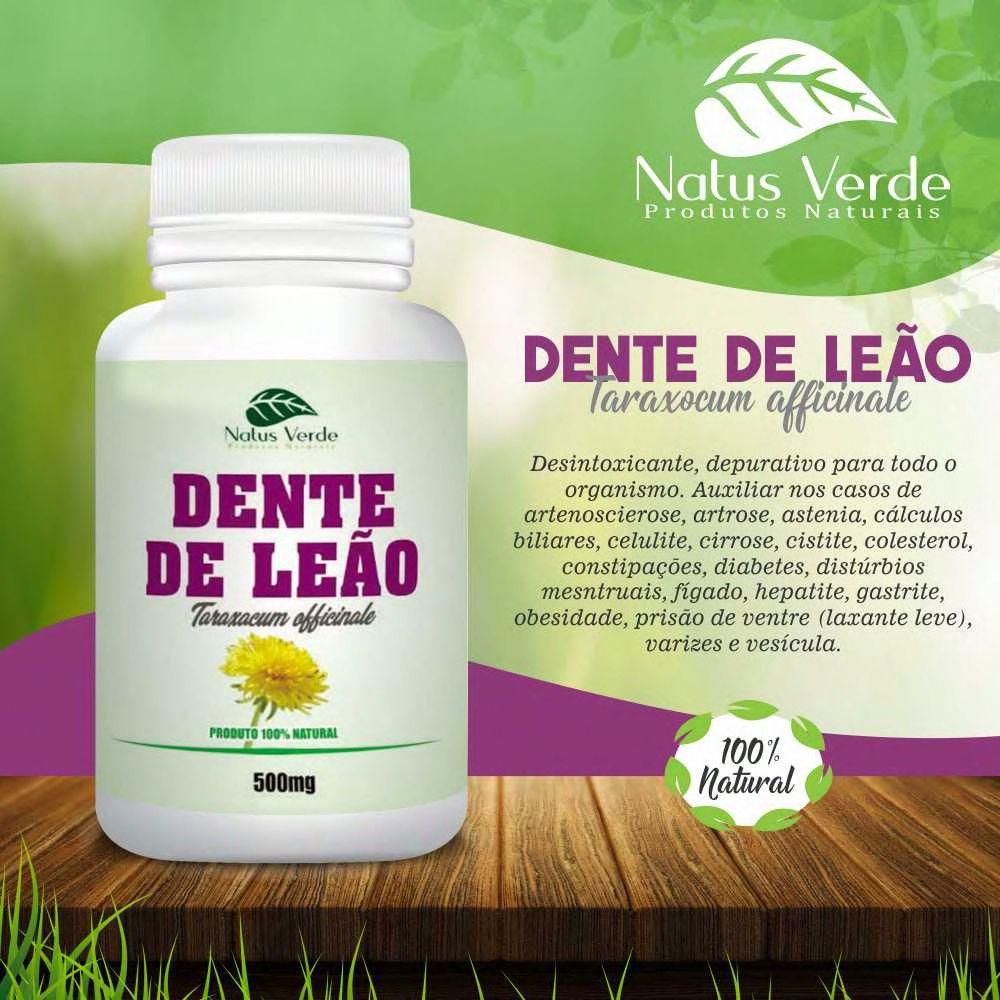 Depurativo Natural Dente De Leao 60 Caps Natus Verde  - Fribasex - Fabricasex.com
