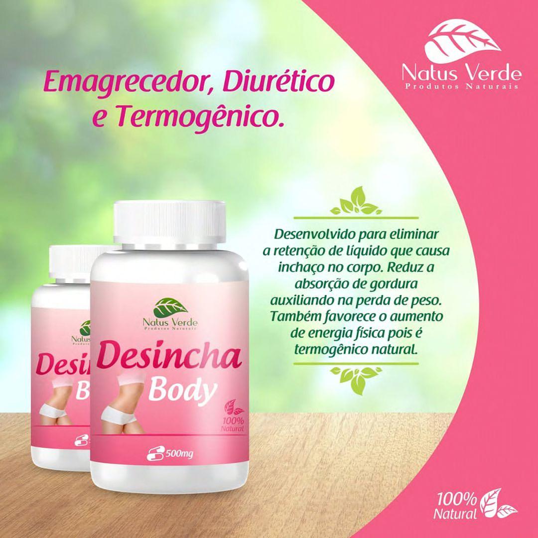 Desincha Body emagrecedor natural anti retenção de liquidos Natus Verde  - Fribasex - Fabricasex.com