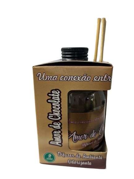 Difusor de Ambiente Odorizante Tipo Amor de Chocolate 250ml Ramas  - Fribasex - Fabricasex.com