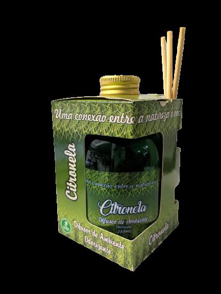Difusor de Ambiente Odorizante Tipo Citronela 250ml Ramas  - Fribasex - Fabricasex.com