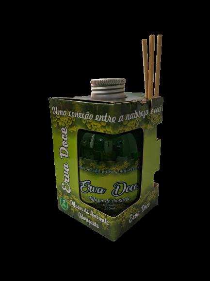 Difusor de Ambiente Odorizante Tipo Erva Doce 250ml Ramas  - Fribasex - Fabricasex.com