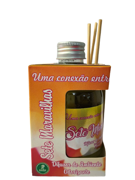 Difusor de Ambiente Odorizante Tipo Sete Maravilhas 250ml Ramas  - Fribasex - Fabricasex.com