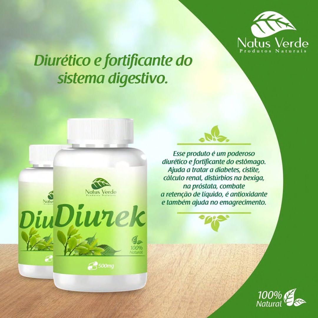 Diurético Diurek 60 Cap Produto Natural Natus Verde  - Fribasex - Fabricasex.com
