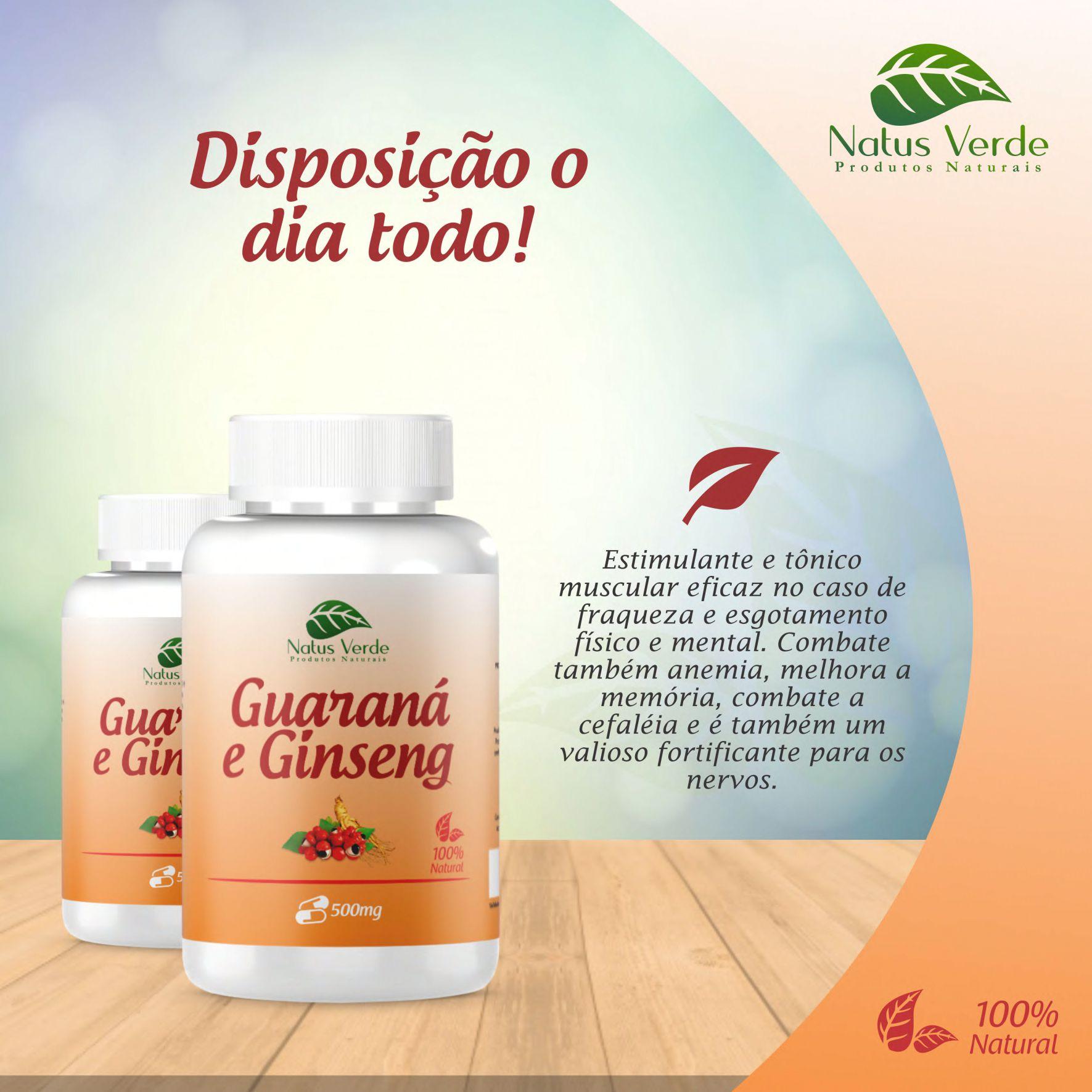 Energetico Natural  Guarana e Ginseng Natus Verdes  - Fribasex - Fabricasex.com