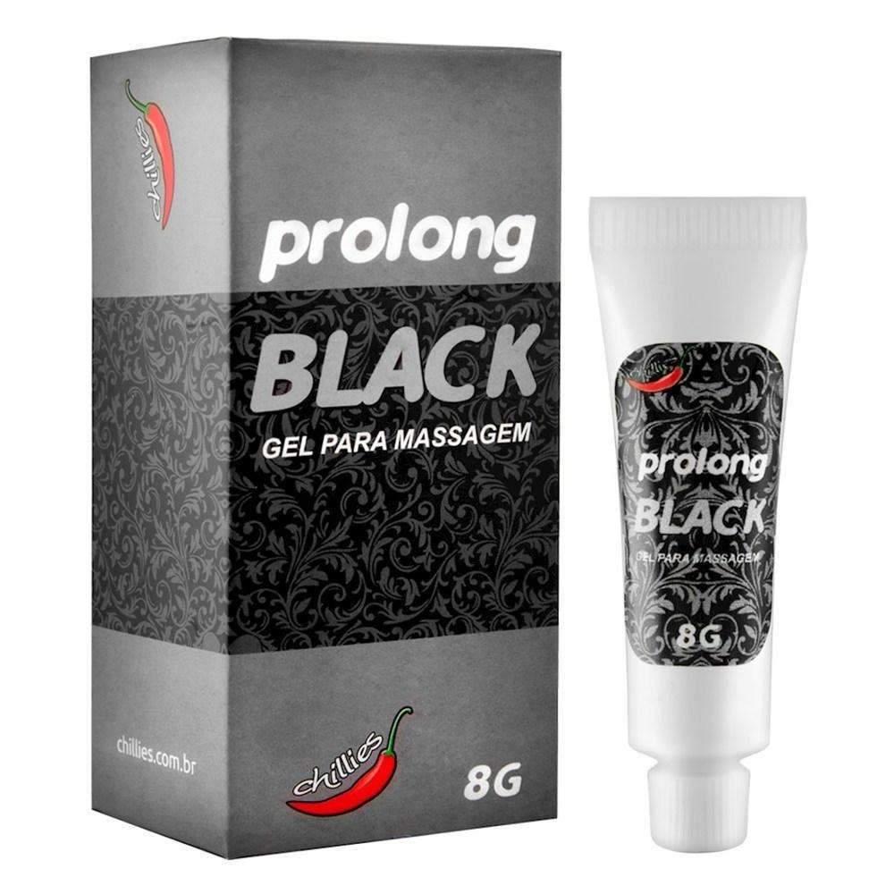 Erotico  Retardante Masculino Prolong Black 8 Gr Chillies  - Fribasex - Fabricasex.com